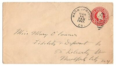Envelope Hand-Addressed by Franklin D. Roosevelt - From Warm Springs Rehab 1927