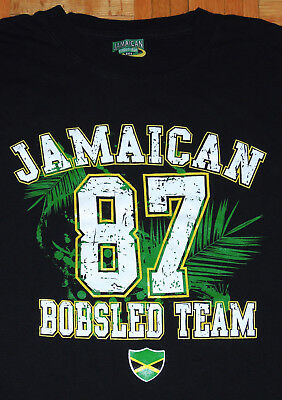 Jamaican Bobsled Team T Shirt Cool Runnings Winter Olympics Jamaica Size Large