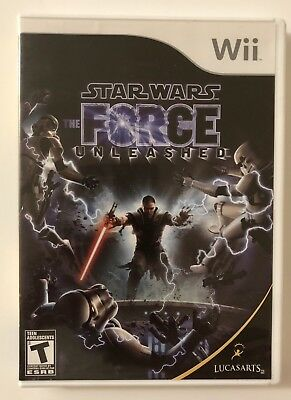 Star Wars: The Force Unleashed (Nintendo Wii, 2008) Disc Complete FREE SHIPPING!