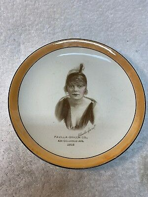 Antique 1918 Blanche Sweet Advertisement Plate
