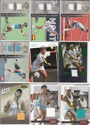 Huge lot of 50 Jersey Swatch cards, many big players, many numbered. Huge value