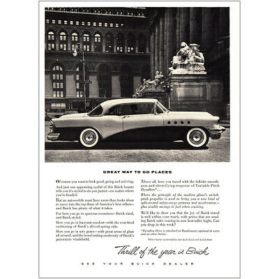 1955 Buick: Great Way to Go Places Vintage Print Ad