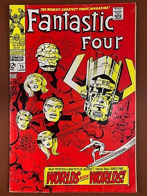 Fantastic Four #75 (1968 Marvel) Silver Surfer, Galactus appearance NO RESERVE