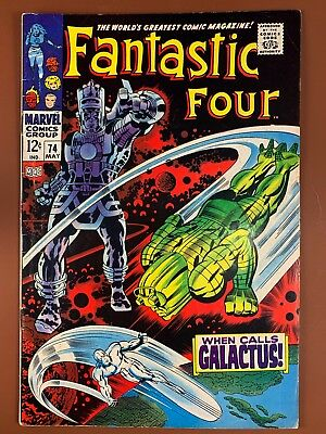 Fantastic Four #74 (1968 Marvel) Silver Surfer, Galactus appearance NO RESERVE