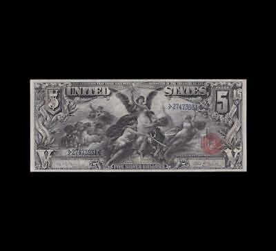 1896 $5 Silver Certificate Education Strong Very Fine Condition