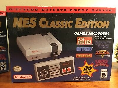 Official Nintendo Classic Edition NES Mini Game Console New In Box Free Shipping