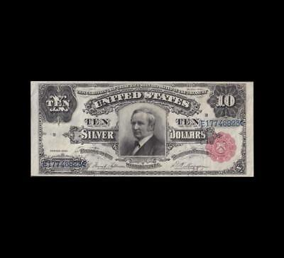 Pristine Red Seal 1891 $10 Silver Certificate Choice/gem Uncirculated