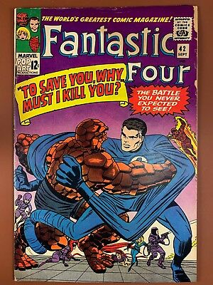 Fantastic Four #42 (1965 Marvel) Frightful Four appearance Silver Age NO RESERVE