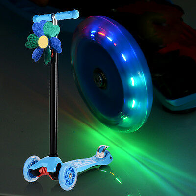1P 80-120mm LED Flash Light Wheel for Mini Maxi Micro Scooter ABED-7 Bearings ZI