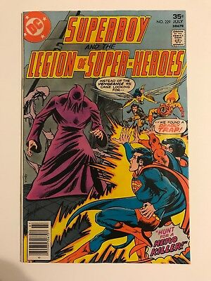 Old D.C. Comic Superboy And The Legion Of Superheroes 229