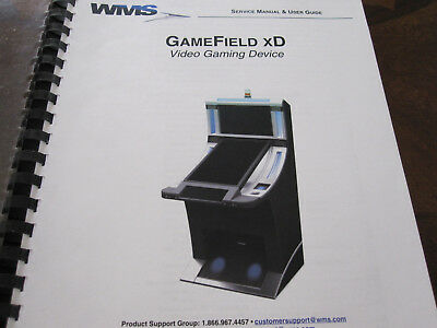 WMS GameField xD, Video Gaming Device Service Manual &User Guide. NOS. NR. RARE.