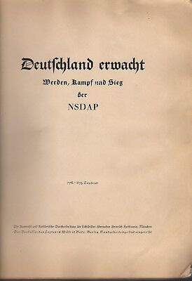 Deutschland Erwacht der NSDAP (Germany Awakes) 1933 225 Photos Propaganda Album