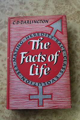 The Facts Of Life by C.D. Darlington HCDJ 1956 Second Edition Book