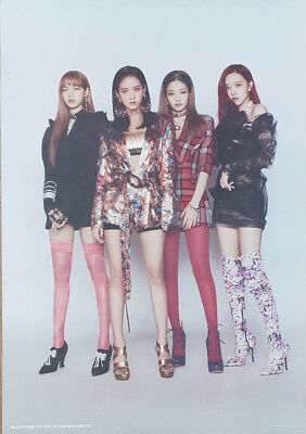 BLACKPINK [SQUARE UP] 1st Mini Album DOUBLE Official Original FOLDED POSTER ONLY