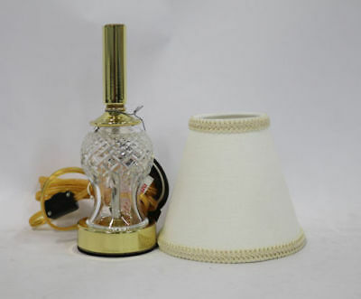 """Waterford Crystal Sullivan 13"""" Accent Lamp w/ Cotton Shade NEW IN BOX !"""