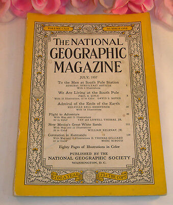 National Geographic Magazine July 1957 Volume CXII No.1 S Pole N Mexico Katmandu
