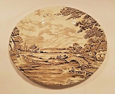 Ridgway Staffordshire Country Days Brown Bread & Butter Plate