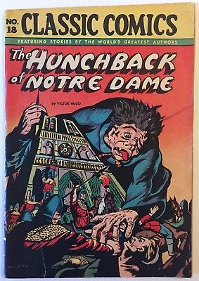 Classic Comics 18 The Hunchback of Notre Dame HRN 28 73-year old comic