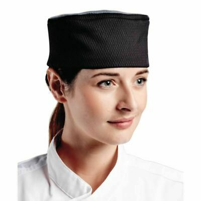 Le Chef Stay Cool Black Skull Cap   Chefs Hat Catering