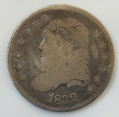 1832 90% silver capped bust Liberty half dime  (122818-158)