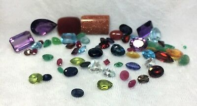 67 CTW Mixed natural gemstones 14 KT and sterling jewelry