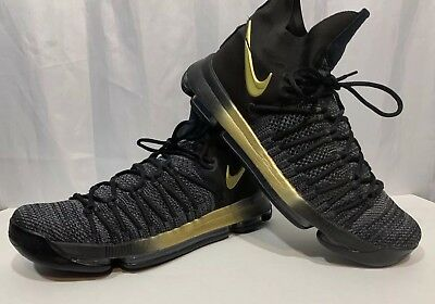 38067dca7db0 Mens Nike KD 9 Elite Flip The Switch Metallic Gold Black Gradient Shoes 10.5