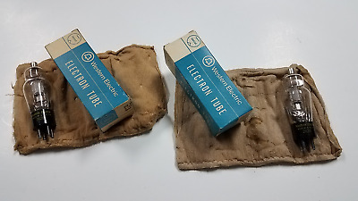 Matched Pair of New in Box NOS Western Electric WE 262B Tubes 7326 Date Codes