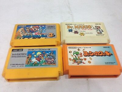 Super Mario Bros Brothers 1 & 3 Dr. Mario Yossy no Cookies set of 4 FAMICOM