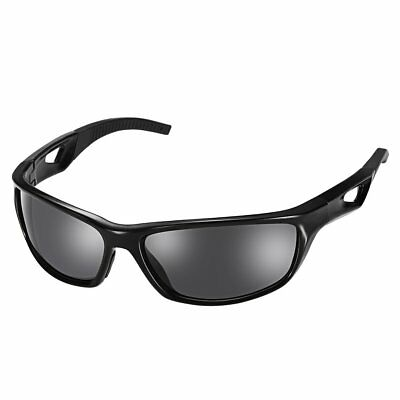 Black Polarized Sports Sunglasses with TR90 Unbreakable Frame 1PC