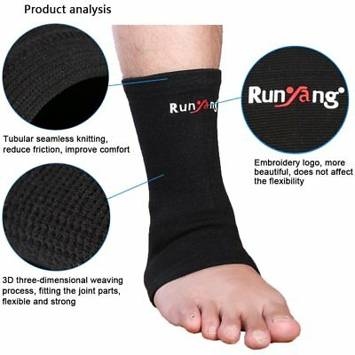 Elastic Ankle Support Brace Compression Wrap Sleeve Sports Relief Pain Feet Z1