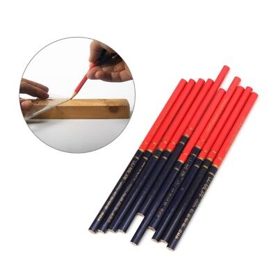 Blue And Red Wire Round Carpenters Pencils For Woodworking Core Marker 10Pcs/Set
