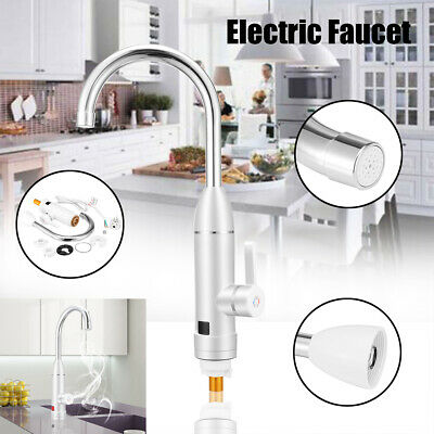 Electric Faucet Tap Hot Water Heater Instant For Home Bathroom Kitchen Boat