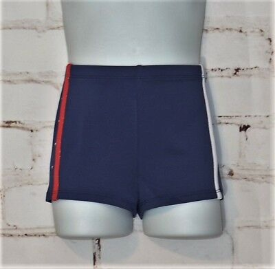 NEW Size S Small 6/7 MORET ACTIVE GIRL Shorts Gymnastics Dance Red White Blue