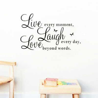 Wall Decals Quote Live Laugh Love  Sticker Home Decoration  DIY Living room