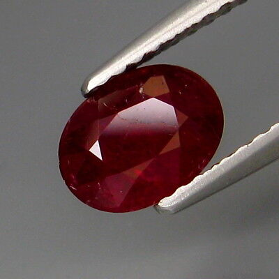 1.42Ct.UNHEATED! Precious Gem&Best Color Hot Red Ruby Winza,Tanzania