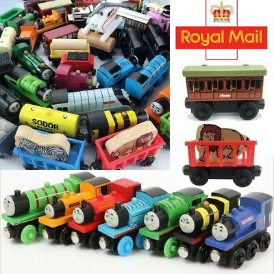 The Tank Engine Tender Wooden Magnetic Railway Train Toy Truck Car Kids Gifts#