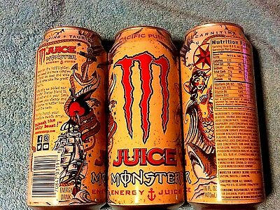 2018 FULL USA MONSTER ENERGY DRINK PACIFIC PUNCH JUICE 16 oz Can   EARLY RELEASE