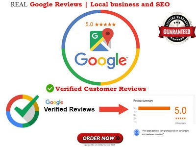 Real 22x Google Reviews For your Business Real Virefied 5 Star SEO SAFE Reviews