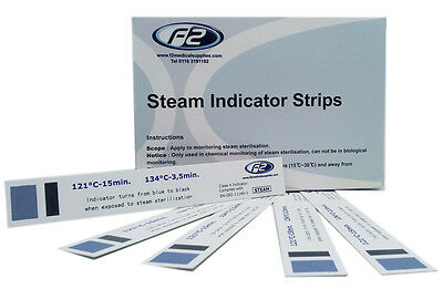 F2Medical Testing Strips 200 Strips Per Box For Autoclave. Vets..
