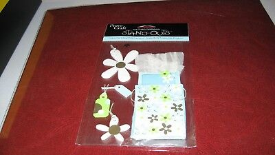 Provo craft stand outs for scrapbooking/card making present w/flowers NIP