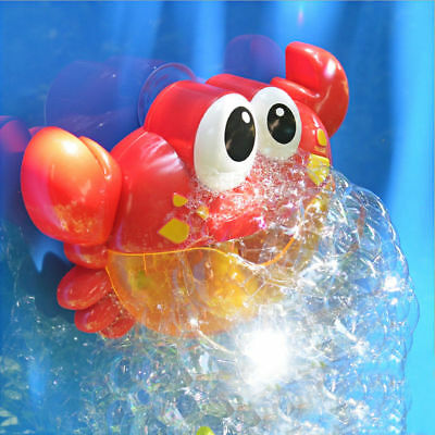 Crab Bubble Machine Musical Bubble Maker Bath Shower Baby Kids Toy Fun Gift