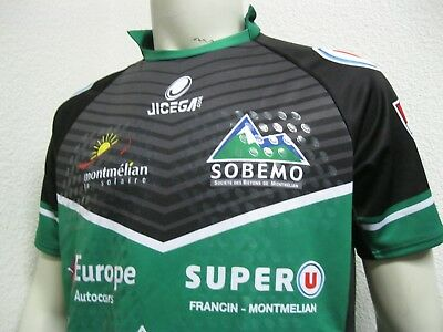 Ancien MAILLOT porté? UNION SPORTIVE US MONTMELIAN RUGBY #73 Jersey Maglia Shirt
