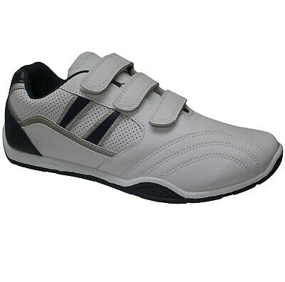 New Mens Faux Leather Trainers Sports Gym Jogging Running Casual Shoes Size..
