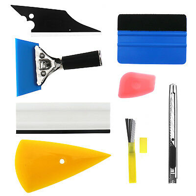 8x Window Tint Tool Car Wrapping Application Kit Sticker Vinyl Sheet Squeegee