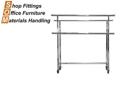 Double Rail Rack Clothing Display Stand