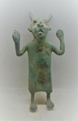 Circa 1200-800Bce Ancient Luristan Large Bronze Worshipper Statuette