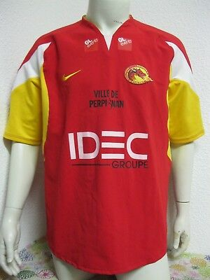 Ancien MAILLOT NIKE DRAGONS CATALANS RUGBY A XIII PERPIGNAN Jersey Shirt USAP