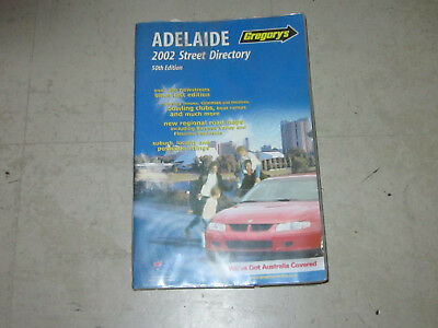 Adelaide Street Directory 2002 50th edition by Gregory's in very good condition