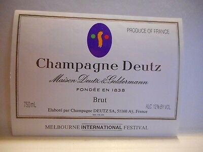 Champagne DEUTZ  Melbourne international festival    Ay - Champagne