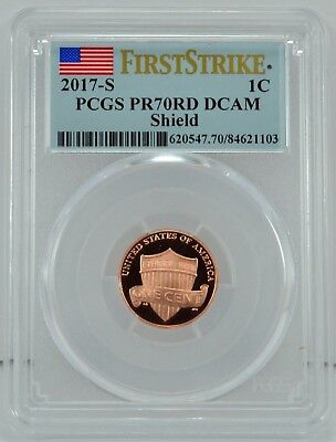2017-S 1c Penny First Strike Proof Coin PCGS PR70RD DCAM
